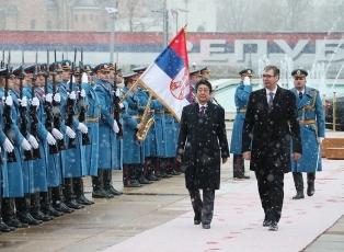 日・セルビア首脳会談