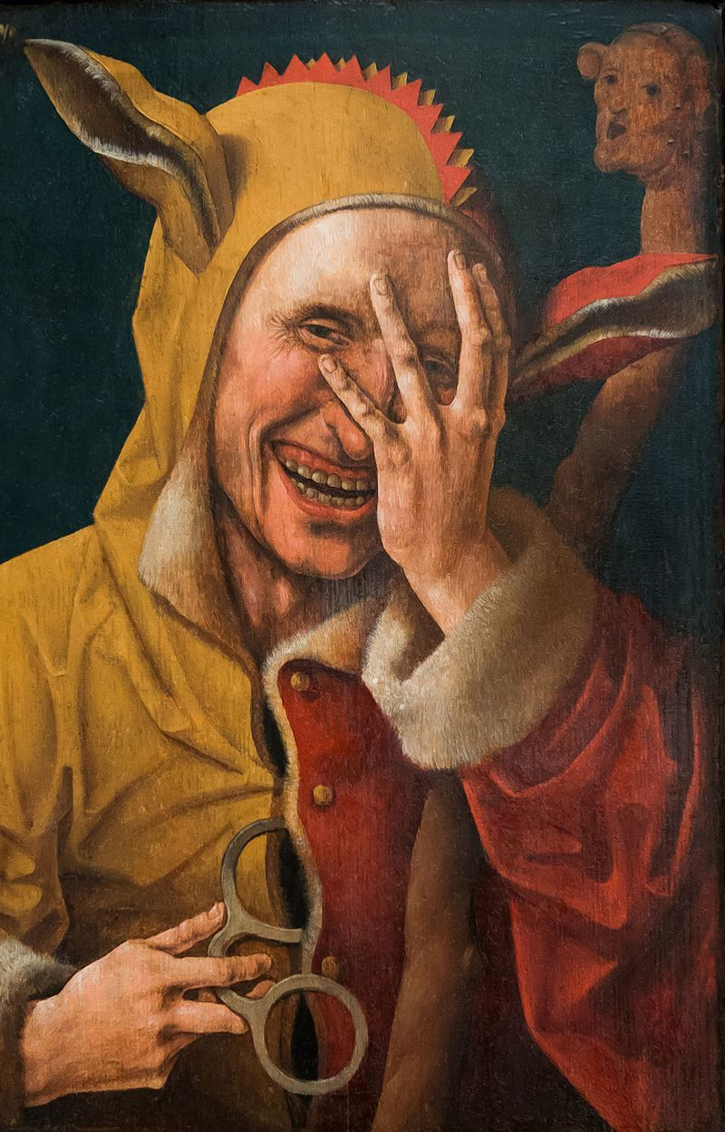 『笑う道化師』ヤーコブ・コーネリス・ファン・オーストサネン 1500年頃