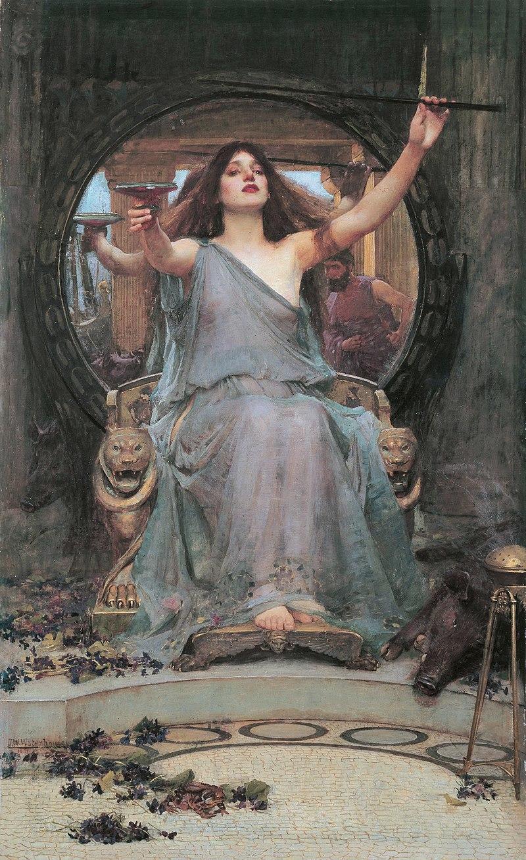 『オデュッセウスにカップを差し出すキルケー』ジョン・ウィリアム・ウォーターハウス