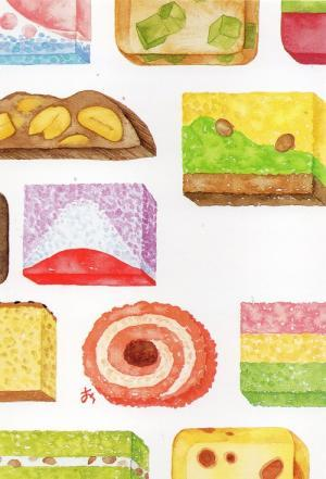 和菓子  イラスト