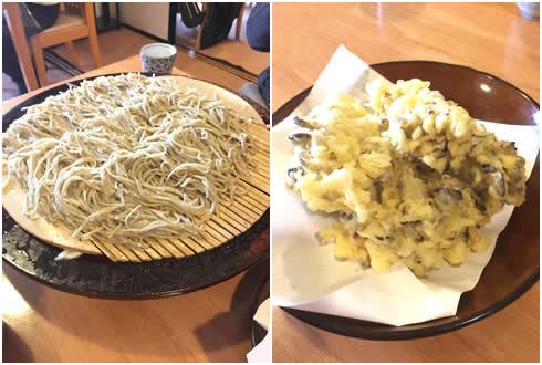 そば&舞茸の天ぷら