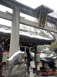 護王神社-雪