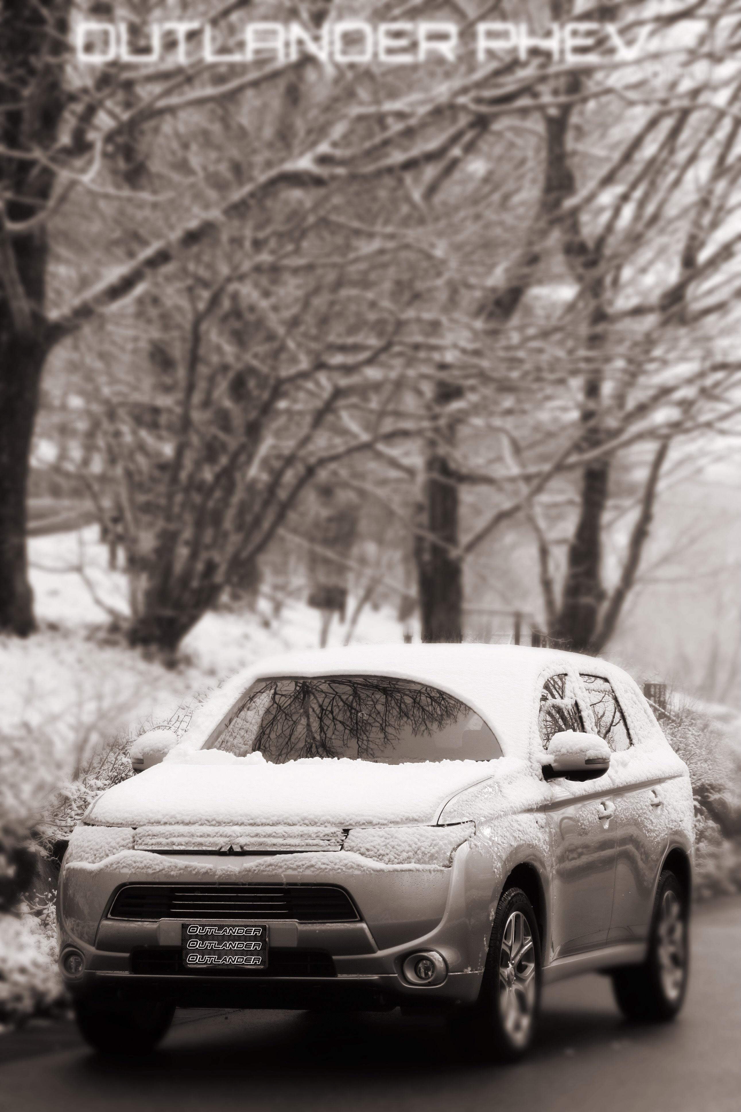 アウトランダーPHEV 雪写真