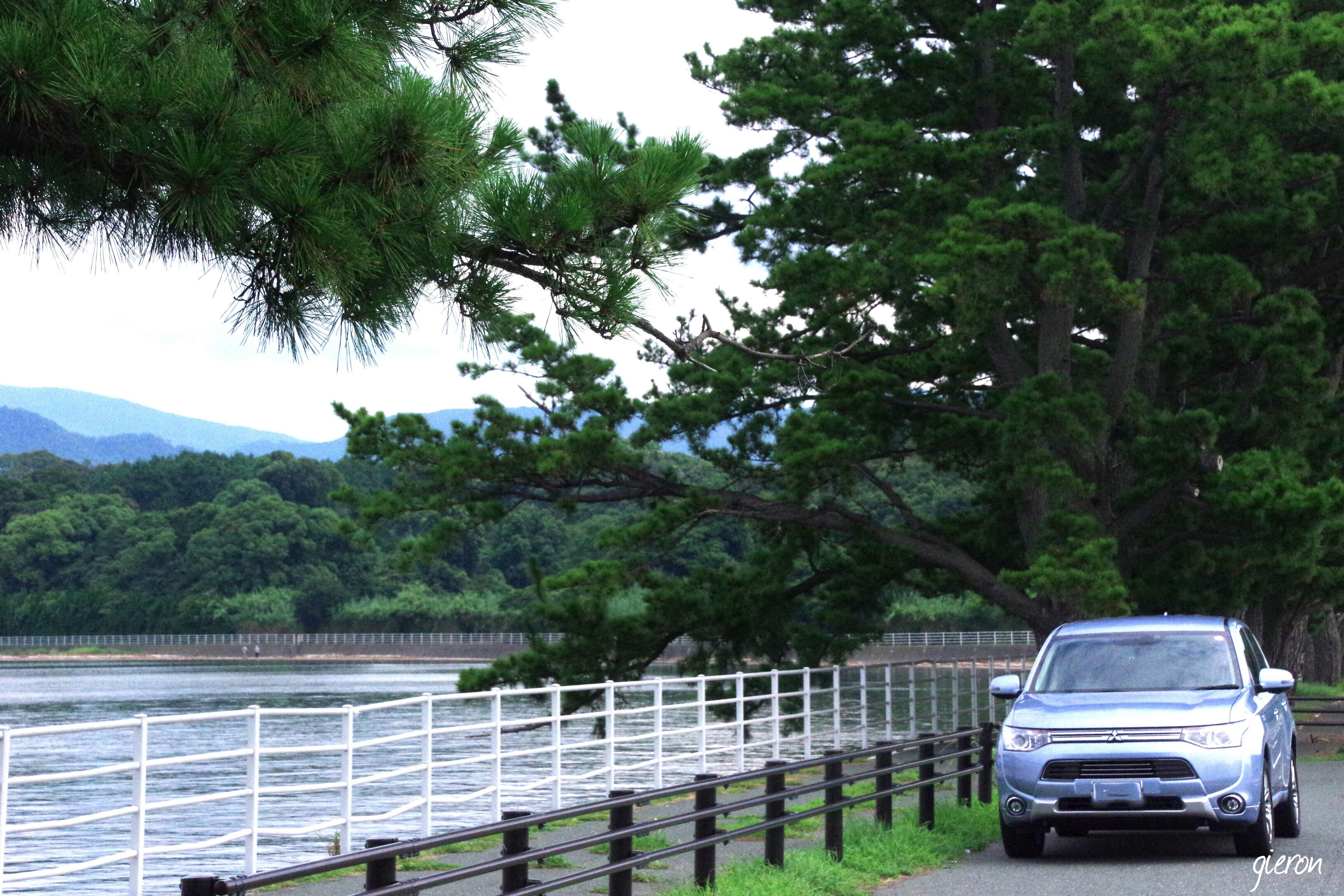 クルマの撮影スポット 浜名湖 アウトランダーPHEV