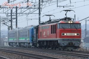 8561レ(=EF510-8牽引)、H100形甲種輸送(ヨ8000付き)
