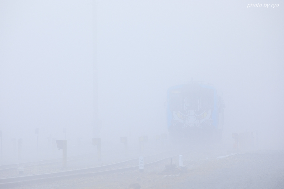 霧の中の神楽列車