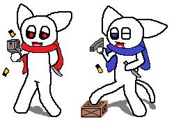 108_ギコルドとモラッチ(銃の構え)