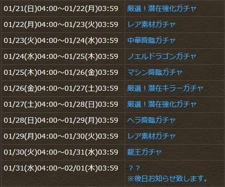 パズドラ 6周年企画!6ヵ月連続イベント 1月!