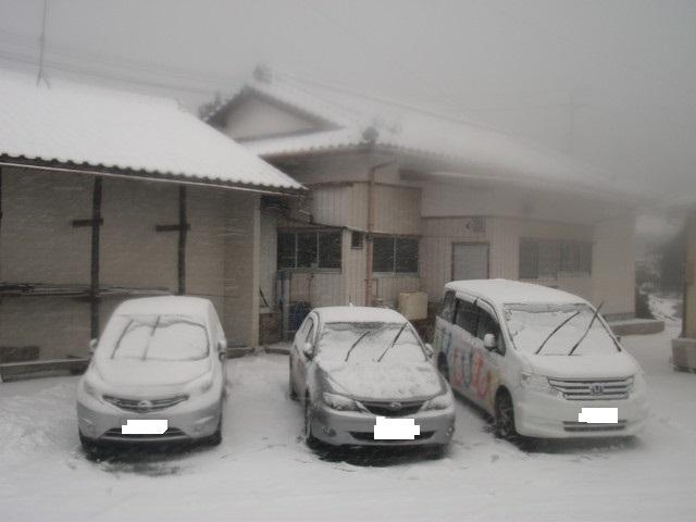 2017年12月雪がたくさん積もりました。 (1)