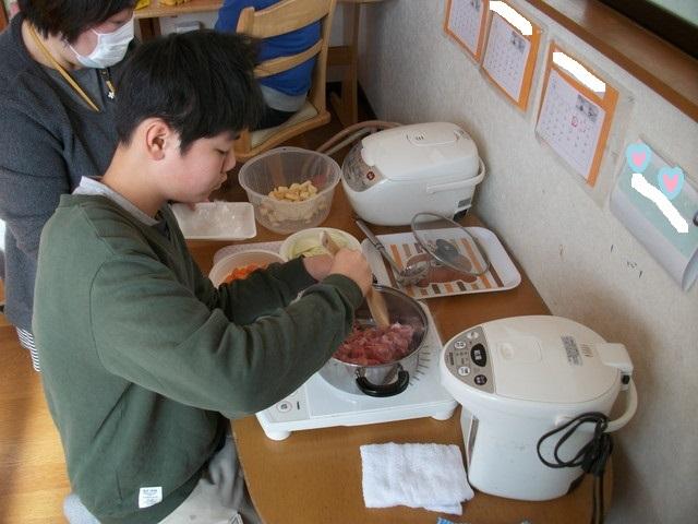 2018年1月昼食クッキング (2)