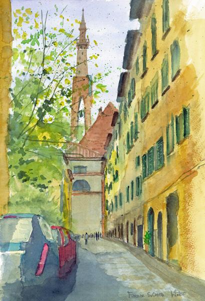 フィレンツェ サンタクローチェ教会裏