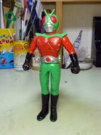 バンダイ ソフビ人形 スカイライダー 98年 日本製
