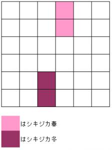 シキジカ冬 お邪魔1