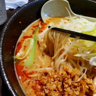 東横愛宕 濃厚担々麺 麺スープ