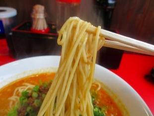たまる屋亀貝店 担々麺 麺