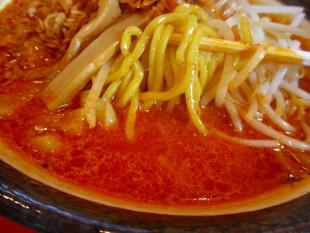 まごころ亭 海老辛味噌ラーメン 麺スープ