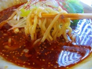 ふじの新津 火焔担々麺 麺スープ