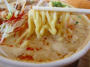 高野 モツ担々麺 麺スープ