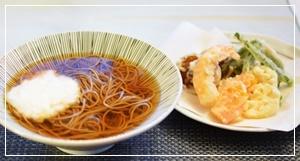トロロ&天ぷら蕎麦