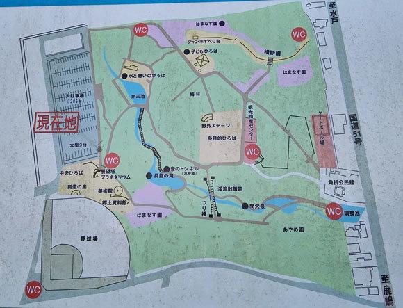 はまなす公園 全体図 マップ 遊具 ローラー滑り台
