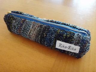 ネクタイ裂き織りペンケース