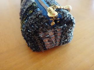 ネクタイ裂き織りペンケース マチ1