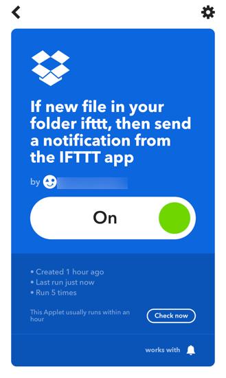 IFTTTのApplet