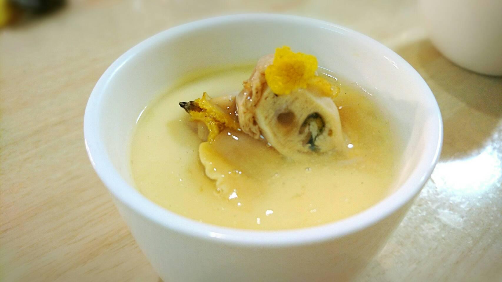 湯煎で料亭の味 ホンビノス貝のトロトロ茶碗蒸し