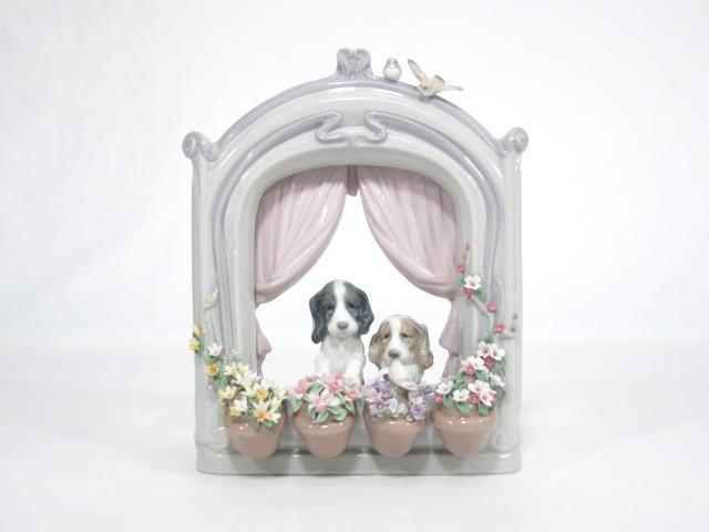 LLADRO リヤドロ 「可愛いながめ」 犬 置物