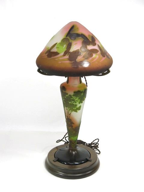 エミール・ガレ 2灯 大ランプ
