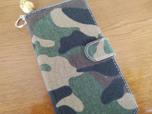 迷彩の布製ケース