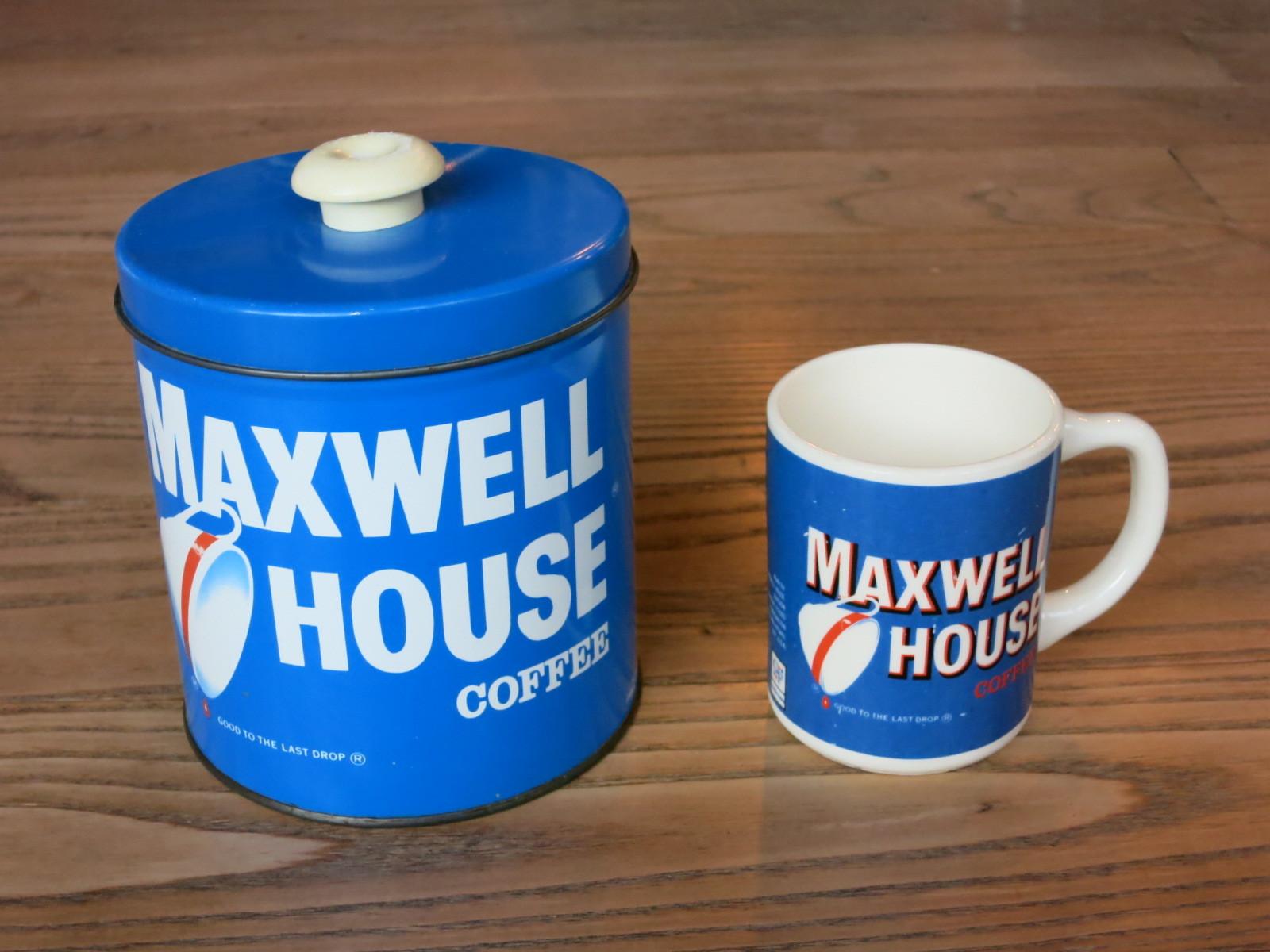 1801 アメリカ買い付け マックスウェルハウス 缶 マグ