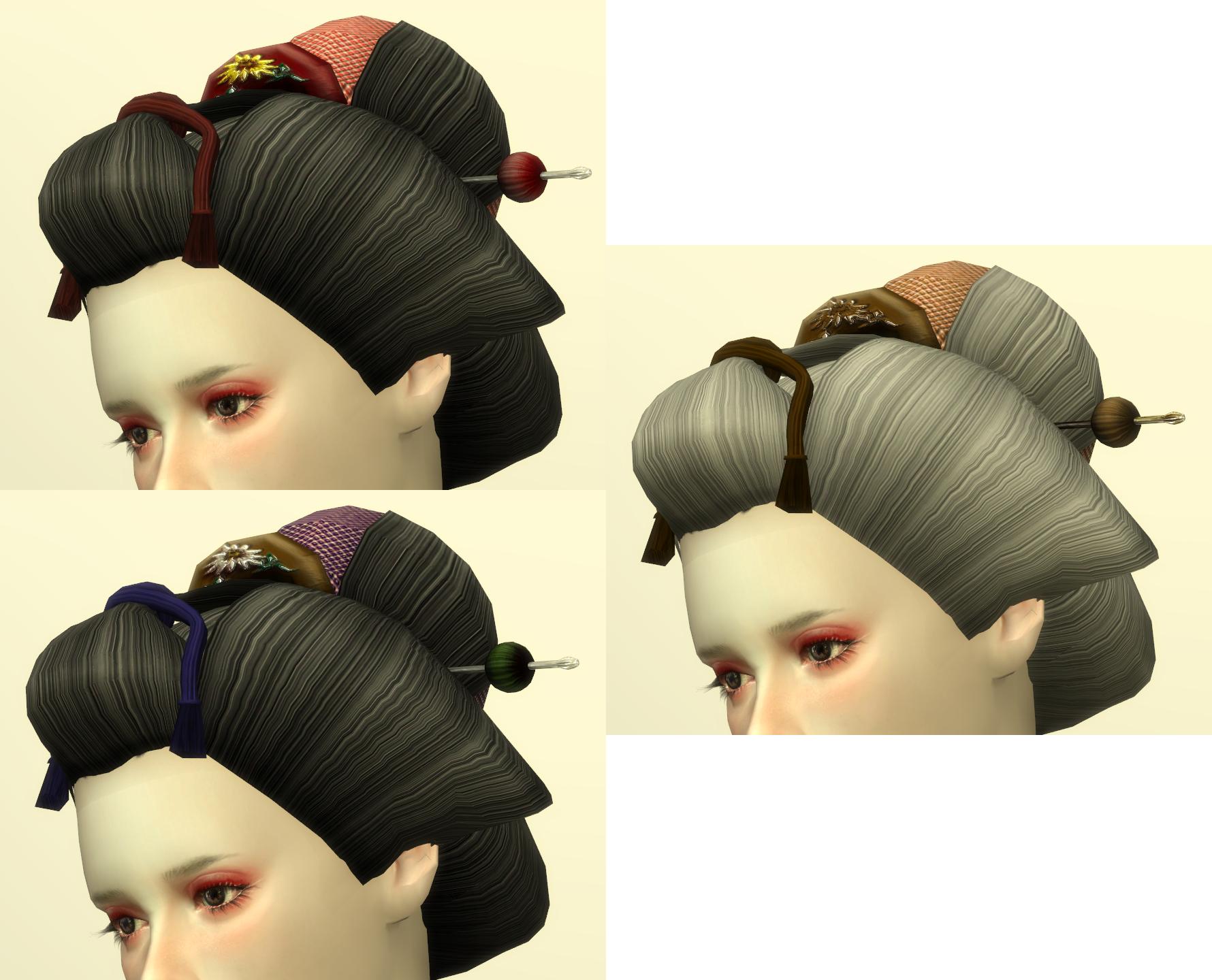 sims4 cc 日本髪