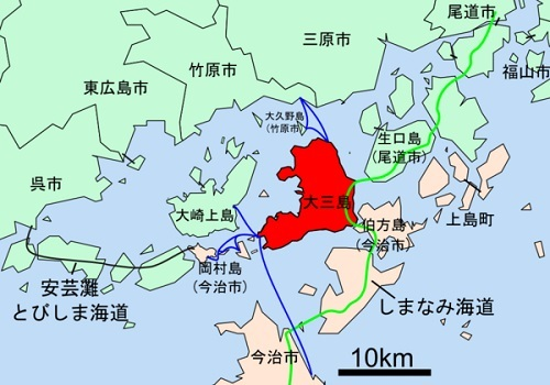 大三島位置図
