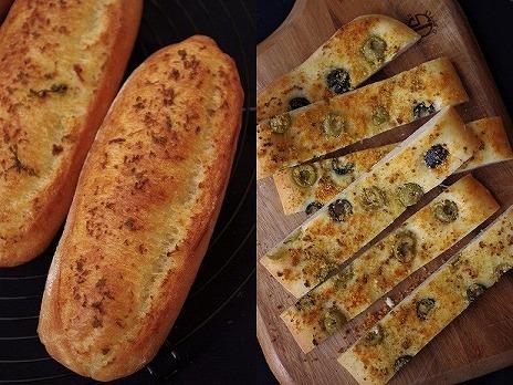 ガーリックフランス・オリーブのハードパン