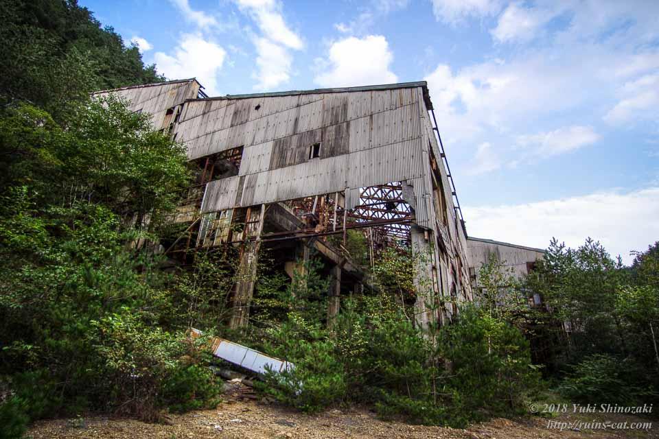 【田老鉱山】選鉱場 外観