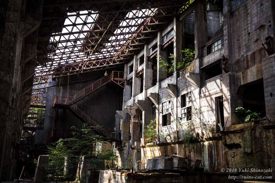 選鉱場内部 2階 西側
