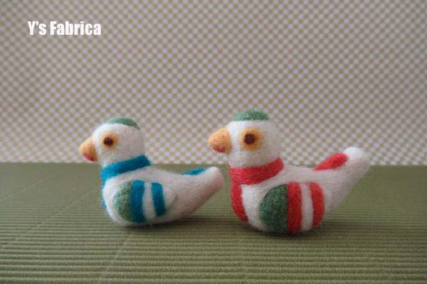 羊毛フェルトの郷土玩具 鳩笛♪