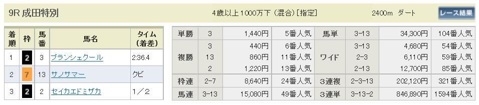 【払戻金】300108中山9R(長生式馬券スタイル)