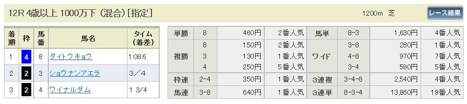 【払戻金】300113中山12R(長生式馬券スタイル)