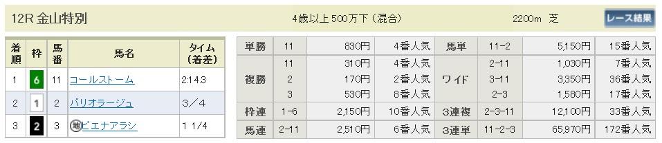 【払戻金】300114中京12R(長生式馬券スタイル)