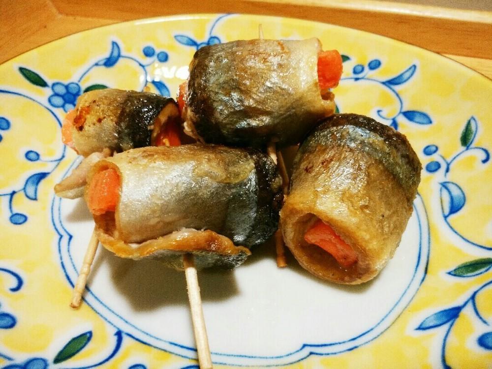 サンマの野菜巻きの作り方7