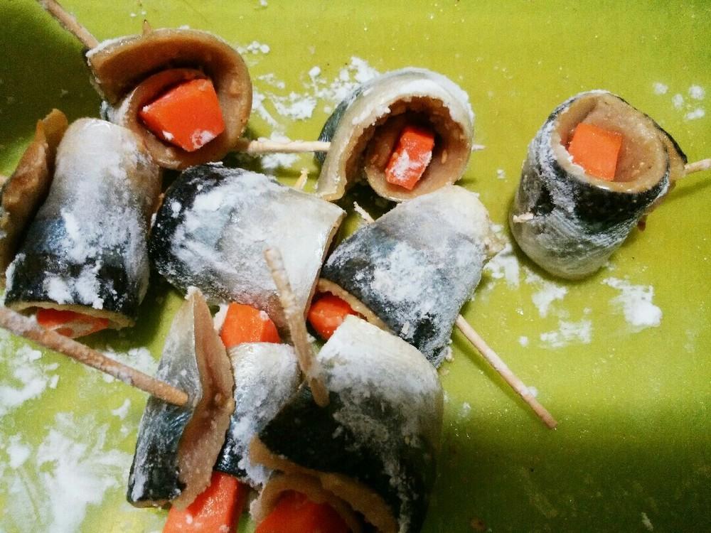サンマの野菜巻きの作り方5