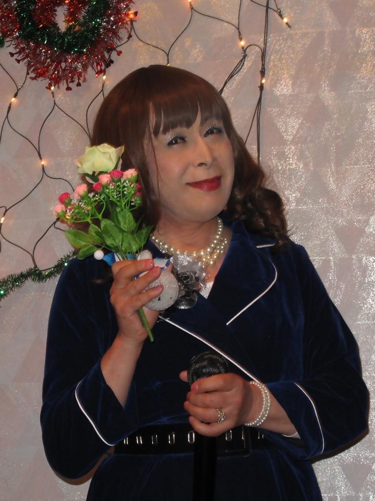 紺色のビロードワンピカラオケ(6)