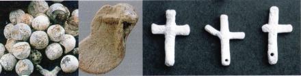 鉛弾を溶かして作った十字架