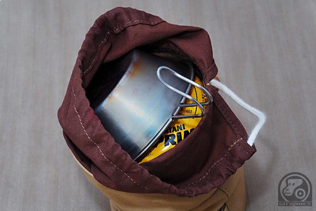 250サイズ OD缶 シェラカップ 収納袋 サルパウチ