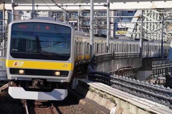 2017-11-25 総武線E231系ミツB19編成 千葉行き
