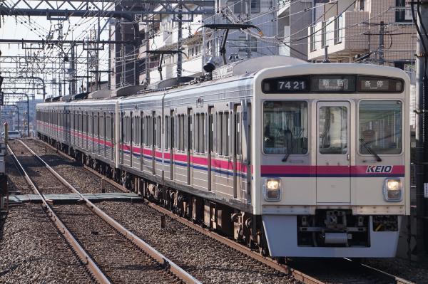 2018-01-13 京王7421F_7709F 各停新宿行き