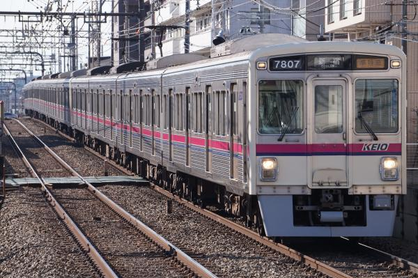 2018-01-13 京王7807F_7702F 準特急新宿行き