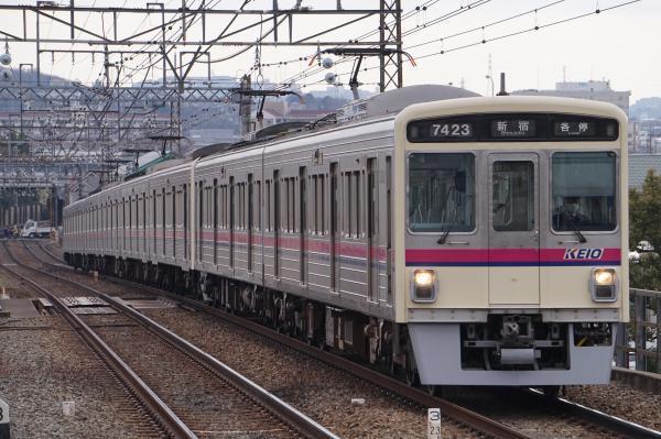 2018-02-16 京王7423F_7708F 各停新宿行き